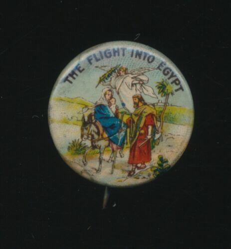 Vtg The Flight Into Egypy Methodist Book Concern Church Pin Pinback Button