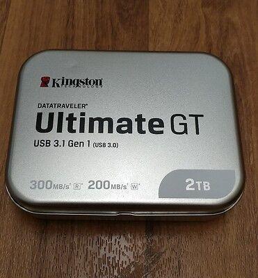 2TB Kingston DataTraveler HyperX Ultimate GT USB3.0 Flash Drive -New in Box!