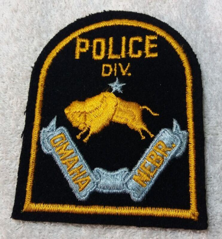 Vintage Omaha Nebraska Embroidered on Felt Police Department Shoulder Patch