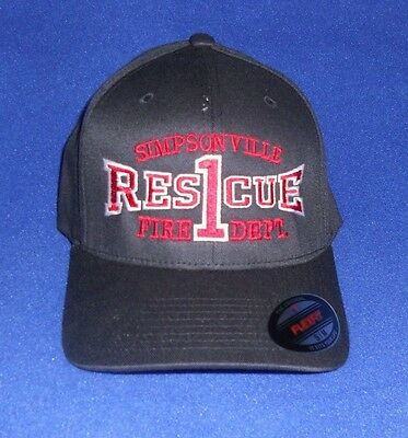 Firefighter Ball Cap  Fire Department Hat Custom Embroidery Available - Fireman Hat