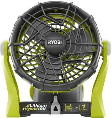 Ryobi Portable Fan Corded Cordless Hybrid 18-Volt Indoor Out