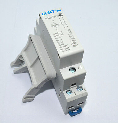2p 20a 220v230v 2no 5060hz Din Rail Household Ac Contactor Relay With Fixed