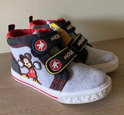 Mickey Mouse Shoes Toddler (Mickey Mouse Toddler Boys High Top Sneakers Size)