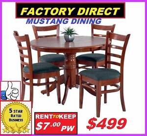 NEW Dining Suite 5 Piece Round Table High Back Chairs $499. Ipswich Region Preview