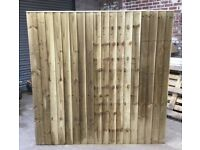 🌻 Various Sizes Of Heavy Duty Tanalised Straight Top Wooden Garden Fence Panels