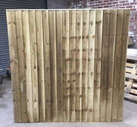 🌳 •New• Pressure Treated Feather Edge Straight Top Wooden Garden Fence Panels ~ Various Sizes