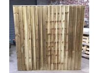 🌳Straight Top Tanalised Wooden Fence Panels