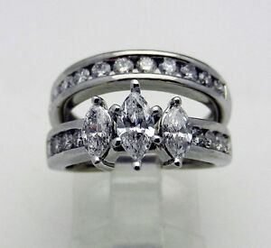 1-66-ctw-DIAMOND-ENGAGEMENT-RING-WEDDING-BAND-BRIDAL-SET-3-stone-MARQUISE-8-1-g