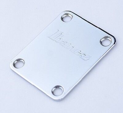 Genuine Ibanez Neck Plate Chrome same size for Fender Strat Tele Guitar Bass for sale  Shipping to Ireland
