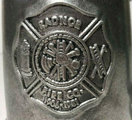 Radnor Fire House Co. 1906/1981 Beer Mug Wilton RWP 75th Anniversary Piece 5 In