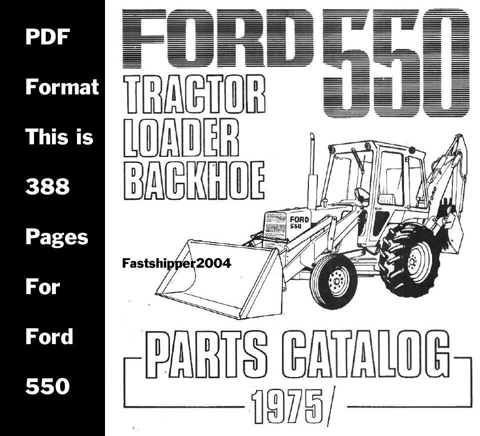 ford 550 555 tractor loader backhoe shop service manual parts
