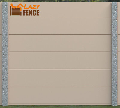 GARDEN FENCE PANELS 5FT KIT residential fence COMMERCIAL FENCE BEIGE LazyFence