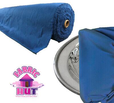 Fabric Hut Cadet Blue Anti-tarnish Anti Tarnish Silver Cloth by the (Hut Clothing)