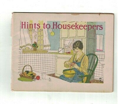 Hints to Housekeepers 1918 Booklet Dr Miles Medical Preparations