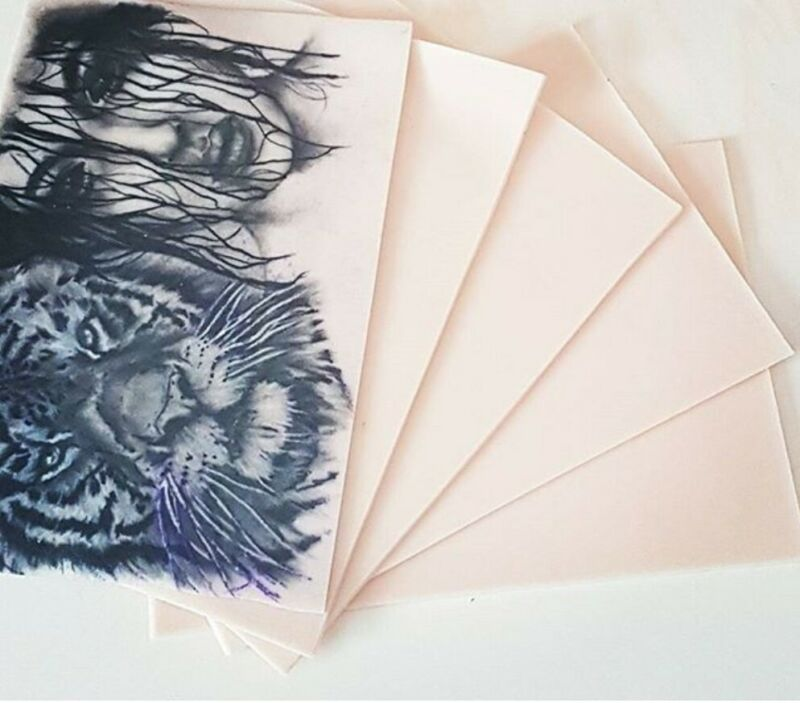 Reelskin Tattoo Practice Skins  - Synthetic size A5 Single Sheet Free Shipping