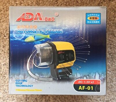 Automatic Fish Feeder Aquarium Tank Auto Fish Food Timer Capacity Adjustable