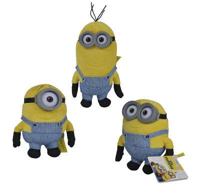 Minion Kevin Spielzeug (Minions 3er Set Stuart Kevin Bob 12cm Plüsch Figur Spielzeug Stofftier)