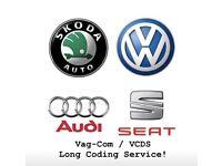 Volkswagen, Audi, Seat, Škoda VAG-COM / VCDS OBD Long Coding Activation & Diagnostic Tests Service!