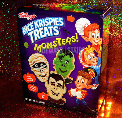 RICE KRISPIES TREATS MONSTERS KIT W/ MOLD Halloween treat monster mummy vampire (Rice Krispies Halloween Treats)