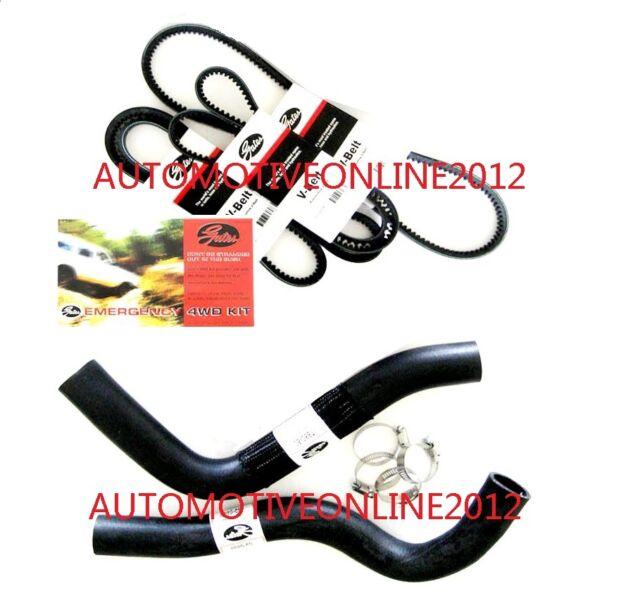 GATES Radiator Hose & Belt Kit Toyota Landcruiser 80 Series HZJ80 HDJ80 1HZ 4.2L