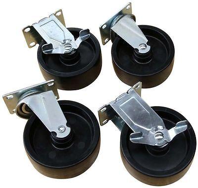 Husky 5 Black Polypropylene Rolling Swivel Caster Kit 715 169