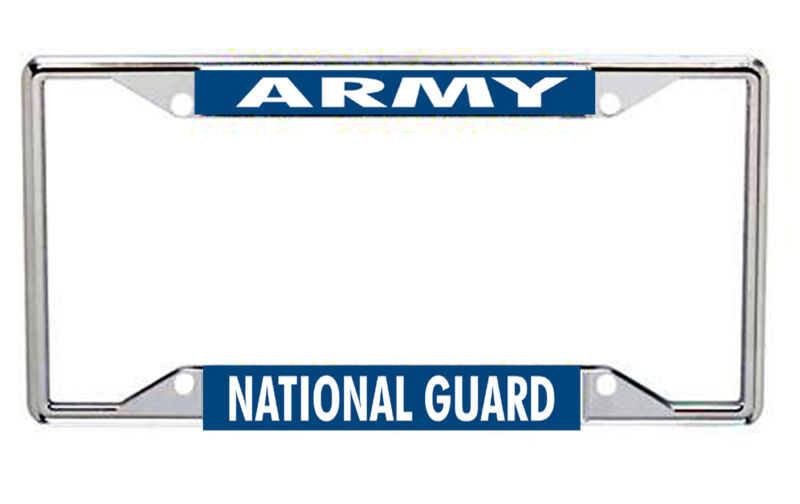 Army National Guard Metal License Frame Every State