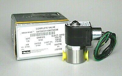 Parker Stainless Steel Solenoid Valve 04f20c3110acf4c05 14 Npt 2-way 120 Volt