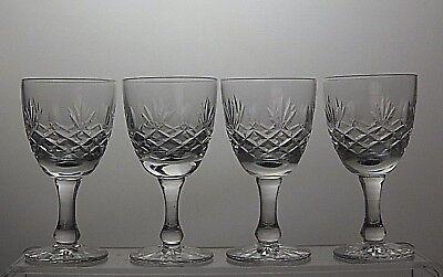STUNNING CUT GLASS CRYSTAL SHERRY PORT GLASSES SET OF 4,