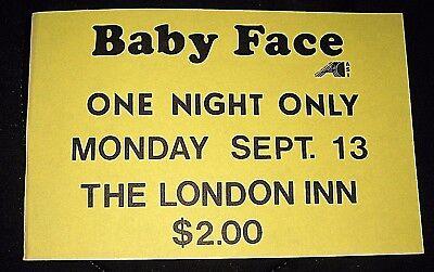 RARE Vintage 1976 Kenny Babyface Edmonds Flyer-The London Inn, Wisconsin-Sept 13