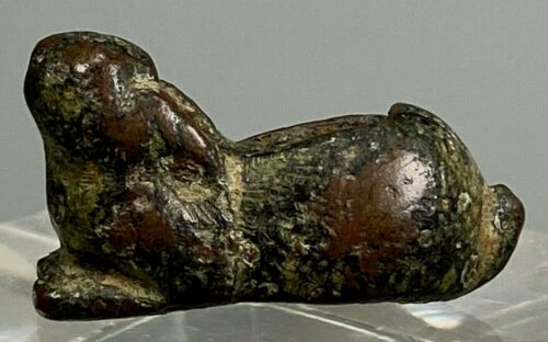 RARE Ordos Bronze Miniature Rabbit or Hare ca. 400-300 BC Ex. P. O