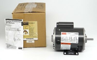 Dayton Electric Motor 5ukc7 13 Hp 3450 Rpm 0.5 Shaft 115208-230v New