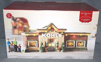 St Nicholas Square Kohls Department Store Lighted Christmas Village Building NEW