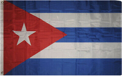 3'x5' Cuba Flag Cuban Flag Banner Bandera Cubana Indoor Outdoor nylon polyester