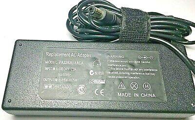 Replacement 15V AC Adapter for Toshiba  PA3201U-1ACA PA3283U-1ACA P Pa3201u 1aca Ac Adapter