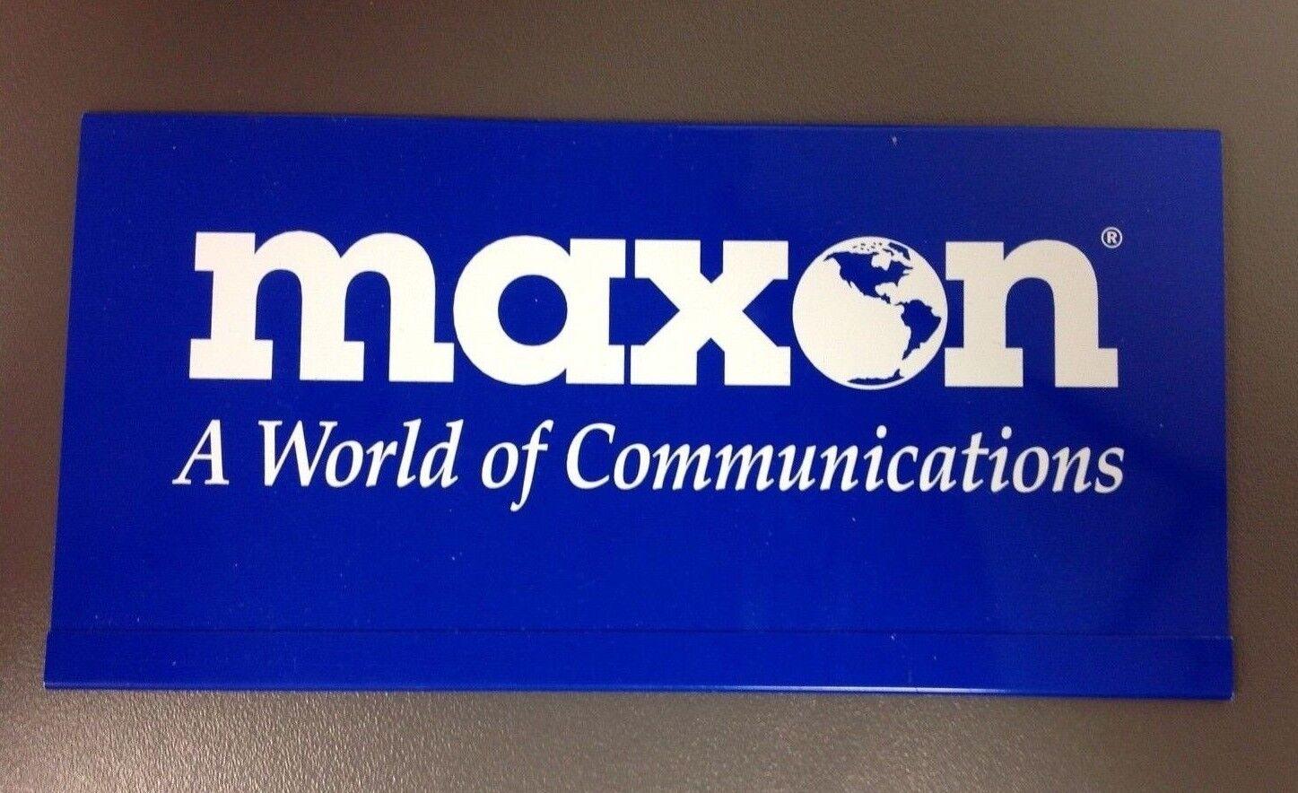 Купить Maxon - MAXON A World of Communications Plastic Sleeve, VINTAGE ADVERTISING