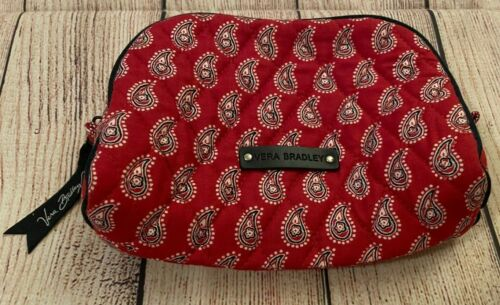 Vera Bradley Cosmetic Bag - Paisley/Floral, Red/White/Blue - Make-up Case