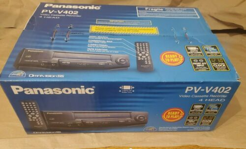 NEW Sealed Box Panasonic PV-V402 4 Head VCR VHS Cassette Recorder Player