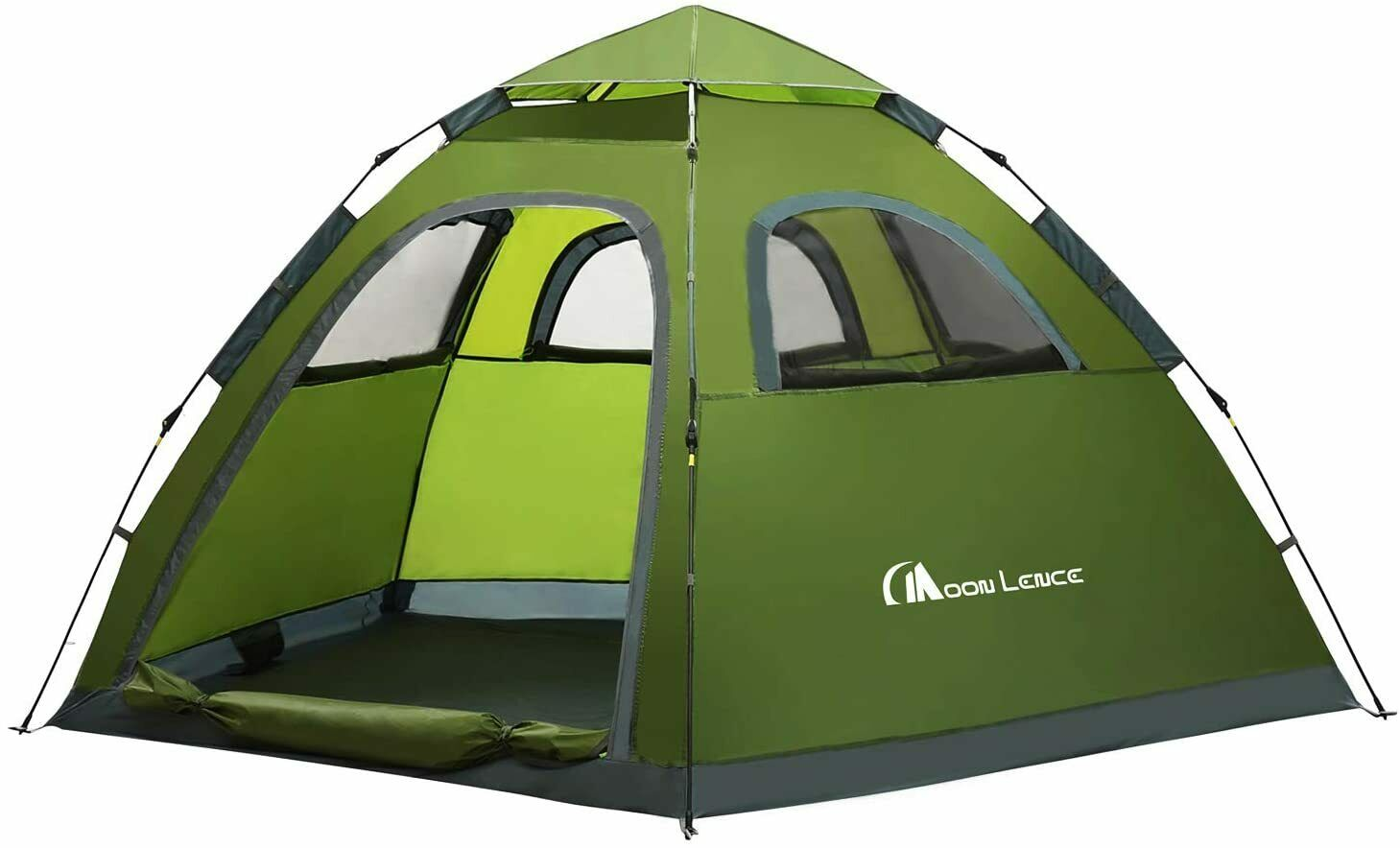 MOON LENCE Instant Pop Up Tent Family Camping Tent 4-5 Person Portable Tent Auto