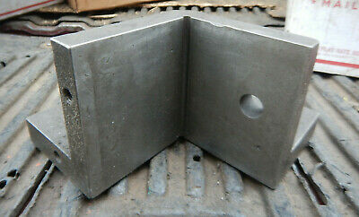Older Corner Angle Plate Machinist Jig Fixture Setup Tooling