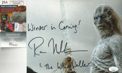 Game of Thrones White Walker Autographed 8x10 Winter is Coming JSA Certified **