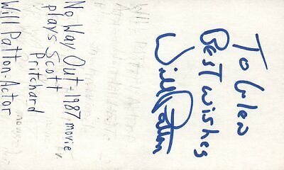 Will Patton Actor No Way Out 1987 Movie Autographed Signed Index Card](No Way Out Sign)
