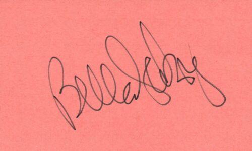 Bella Abzug US Representative Activist Lawyer 1975 Autographed Signed Index Card