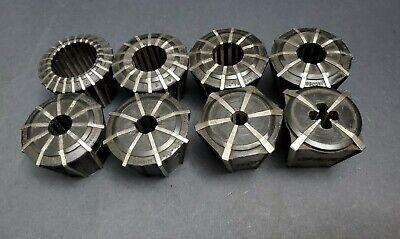 8pc Jacobs Rubber-flex Collet Set 116 - 1 J910 J920 Machinist Lathe Chuck