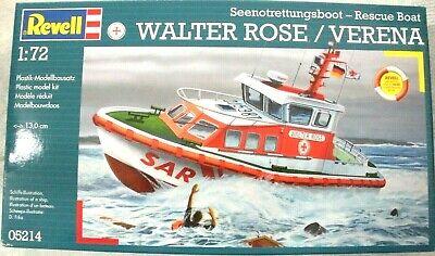 Rescue Boat Walter Rose//Verena #05214 NIB Revell 1:172 Seenogtrettjungsboot