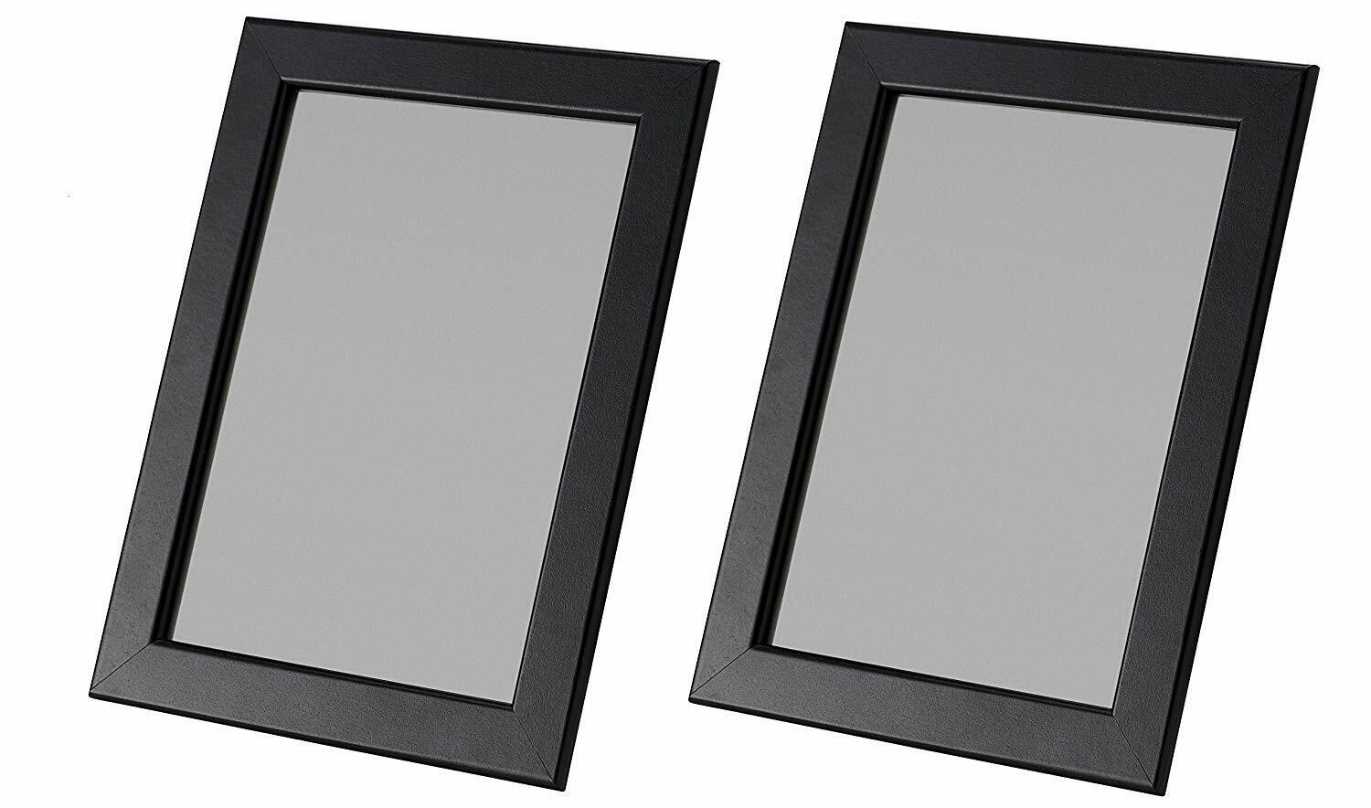"""IKEA Picture Frames 5x7"""" in Black- Hang or Stand FISKBO Set"""