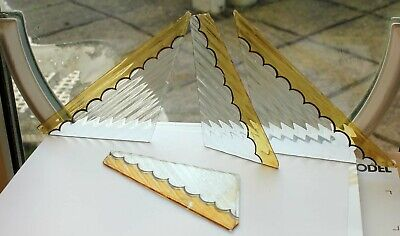 BEAUTIFUL RARE PAINTED VICTORIAN STAINED GLASS FRAGMENTS