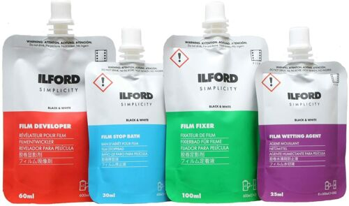 Ilford Simplicity Black & White Film Developing Processing Kit  - Free Post