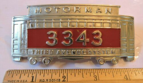 1920s? Defunct Antique TARS 3rd Ave Railway System Trolley Motorman Hat Badge