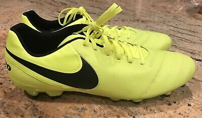 38a1f9ef3a6 Nike Tiempo leather FG Soccer Cleats Men s Sz 13 819213-707
