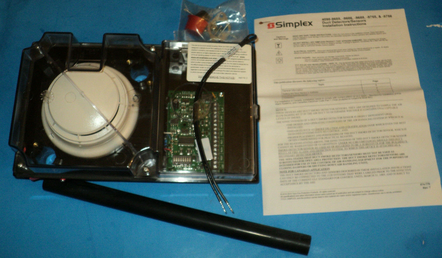 Simplex 4098 9687 Standalone Duct Detector For Sale Online Ebay